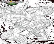 power rangers beast morphers racer zord dessin à colorier