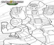 Coloriage power rangers beast morphers smash et ravi