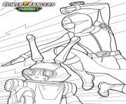 power rangers beast morphers jax et zoey dessin à colorier