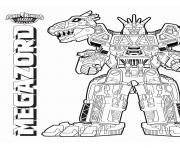 Megazord Dino Charge dessin à colorier
