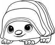 Bug Armadillo Pug Tuk Tuk dessin à colorier