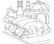 priere ramadan eid dessin à colorier