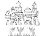 ramadan ramadhan dessin à colorier