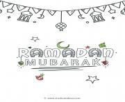 ramadan mubarak dessin à colorier