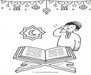 coran pour les musulmans dessin à colorier
