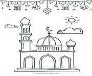 ramadan mosque dessin à colorier