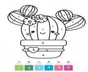magique maternelle un cactus kawaii dessin à colorier