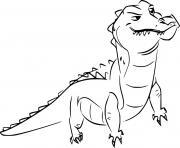 crocodile from la garde du roi lion dessin à colorier