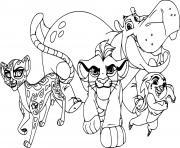 four la garde du roi lion members dessin à colorier