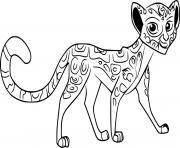 fuli cheetah dessin à colorier