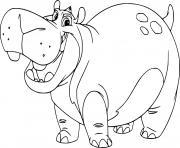 beshte hippo dessin à colorier