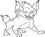 janja hyena dessin à colorier