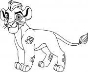 kion lion dessin à colorier