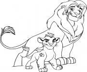 simba and kion dessin à colorier