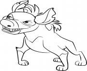 cheezi hyena dessin à colorier