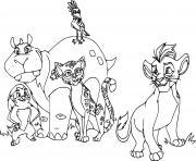 la garde du roi lion members dessin à colorier