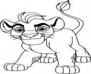 kion from la garde du roi lion dessin à colorier