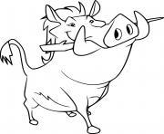 pumbaa from la garde du roi lion dessin à colorier