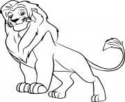 simba from la garde du roi lion dessin à colorier