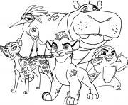 la garde du roi lion characters dessin à colorier