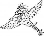 ono egret flying dessin à colorier