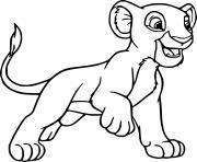 rani lion dessin à colorier