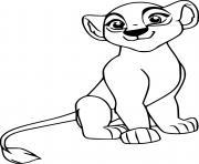 kiara from la garde du roi lion dessin à colorier