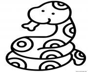 serpent facile maternelle dessin à colorier