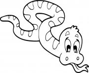 Coloriage serpent maternelle