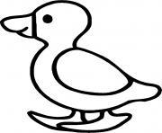 le petit canard en marche dessin à colorier