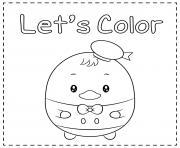 mignon canard kawaii dessin à colorier