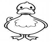 canard oiseau dessin à colorier