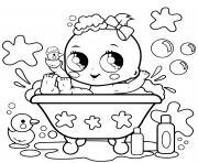 bebe prend son bain dessin à colorier