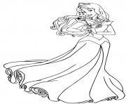 princesse la belle au bois dormant disney dessin à colorier