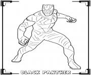 black panther the king of the african nation of wakanda dessin à colorier