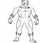black panther simple dessin à colorier