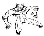 Black Panther Marvel dessin à colorier