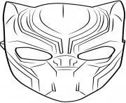masque black panther dessin à colorier