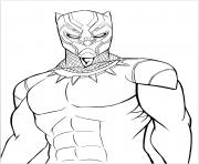 black panther panthere noire dessin à colorier