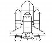 fusee spatiale dessin à colorier