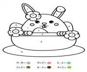 magique CE1 un lapin dans une tasse dessin à colorier