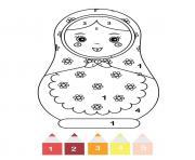magique CE1 une poupee matriochka dessin à colorier