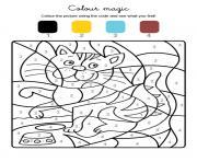 chat magique trop mignon dessin à colorier