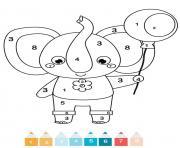 magique CE1 un elephant dessin à colorier