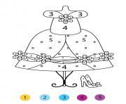 magique CE1 la robe de cendrillon dessin à colorier