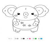 magique CE1 un koala dessin à colorier