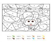 magique CE1 un singe facetieux dessin à colorier