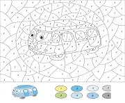 magique CE2 autobus bleu dessin à colorier