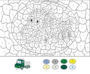 magique CE2 camion de construction dessin à colorier