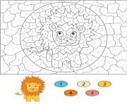 magique CE2 cartoon lion dessin à colorier